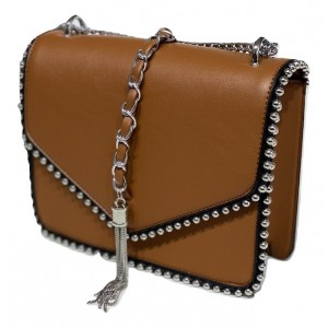 B&S CRYSTAL CROSS BAG CAMEL