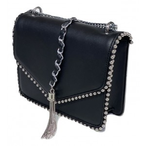 B&S CRYSTAL CROSS BAG BLACK